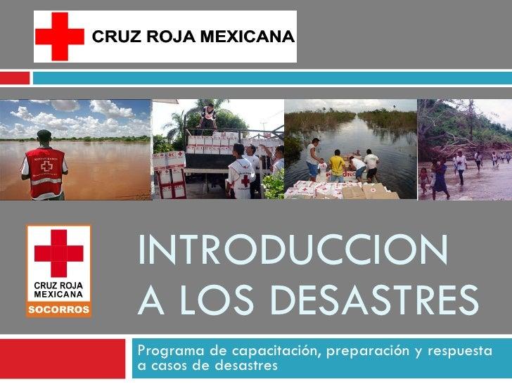 Introduccion a los desastres
