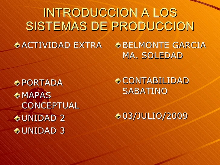 Introduccion A Los Sistemas De Produccion