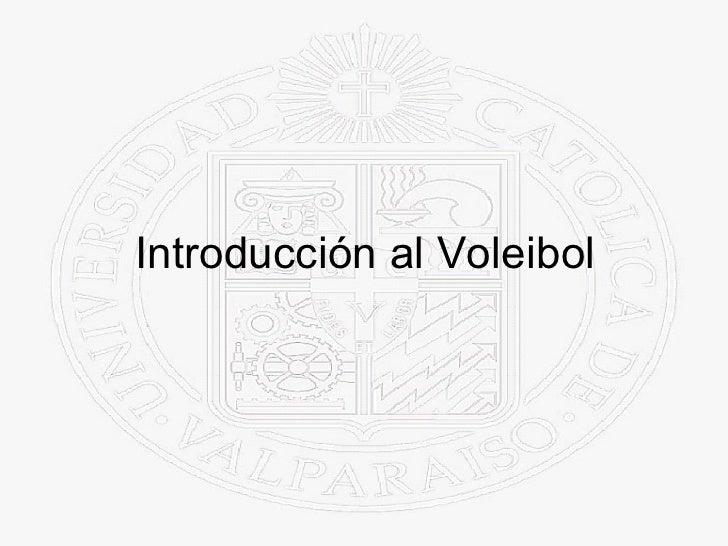 Introducción al Voleibol