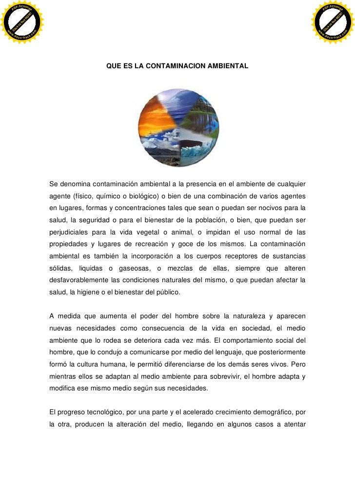 Introduccion contaminacion ambiental