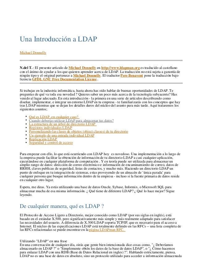 Introduccion LDAP