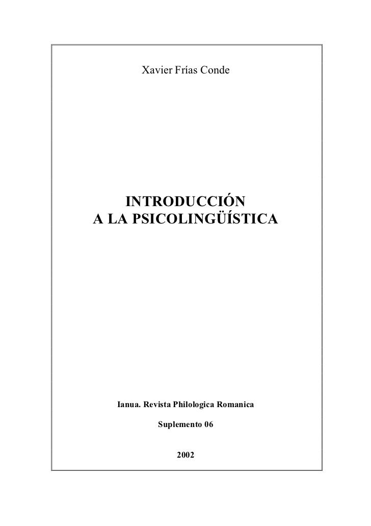 Introduccion psicolinguistica