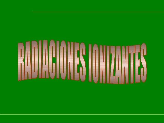 Introduccion radiaciones 2