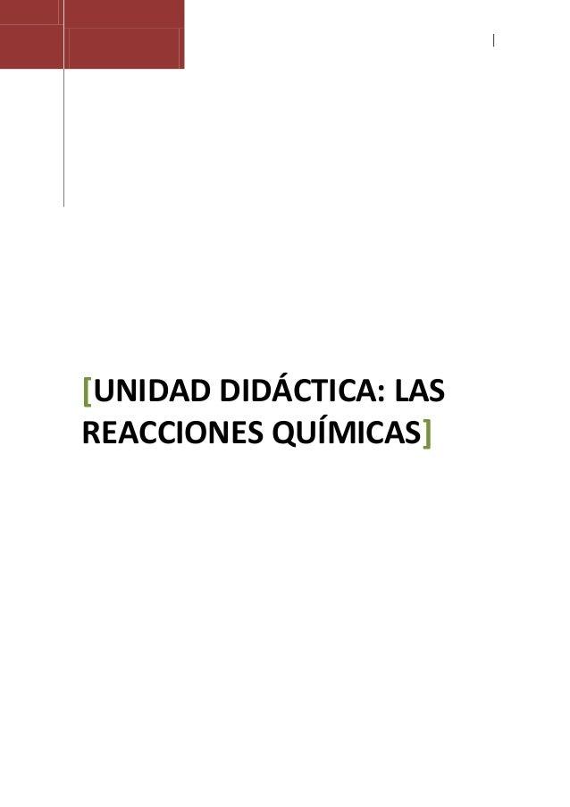 Introduccion a las reacciones quimicas