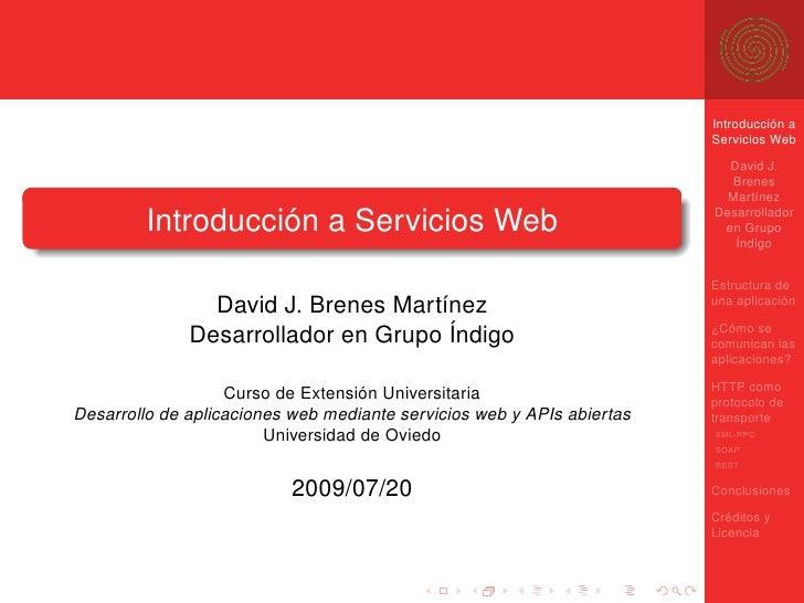 Introduccion a los Servicios Web Rest