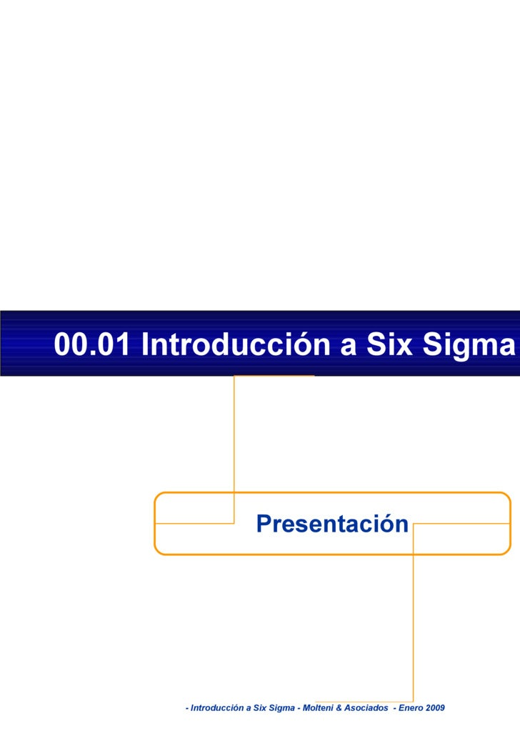 Introduccion Six Sigma