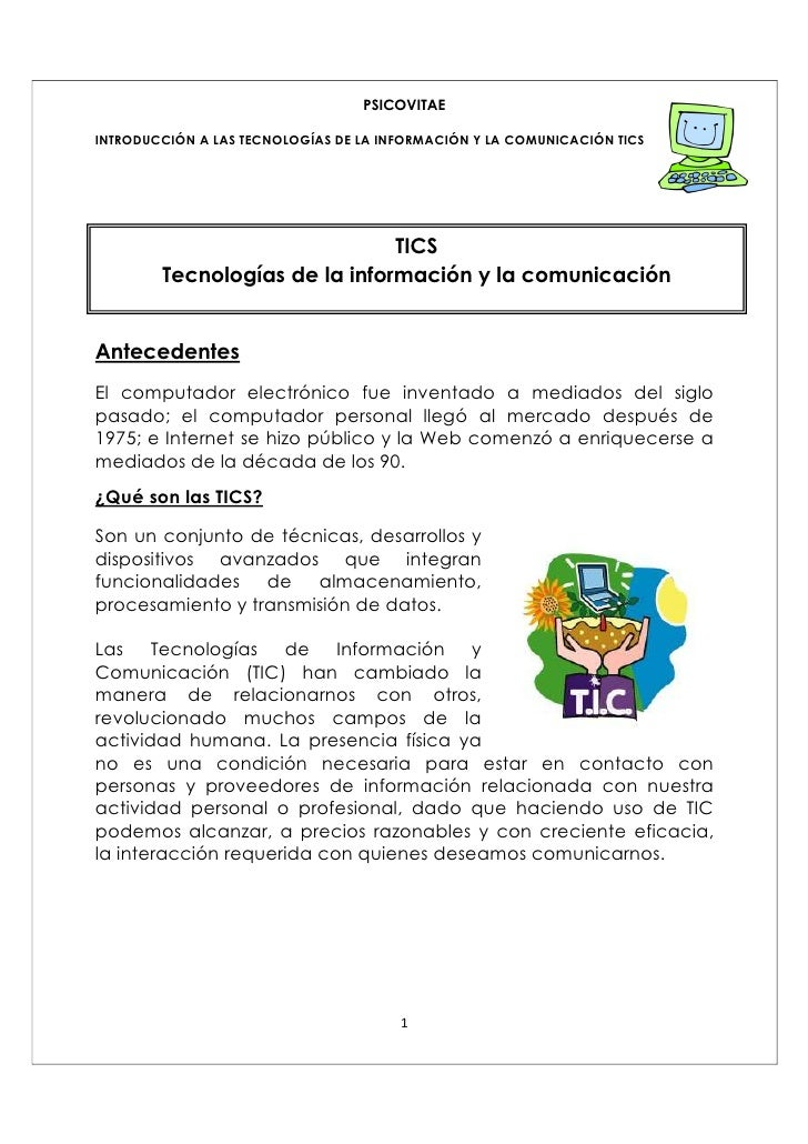 Introduccion Tics