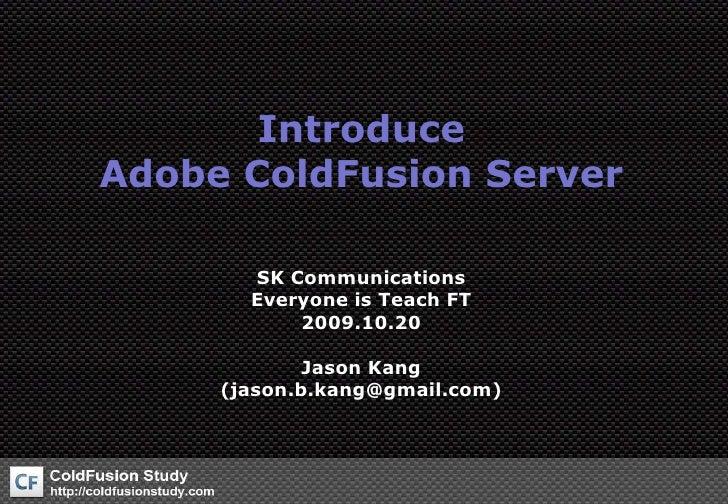 Introduce Coldfusion Server