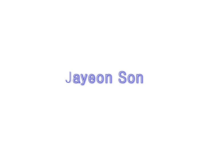 Jayeon Son