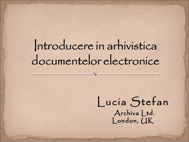 Lucia Stefan Archiva Ltd. London, UK