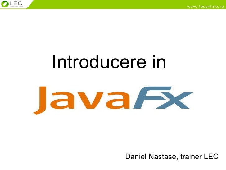 Introducere In Java Jx