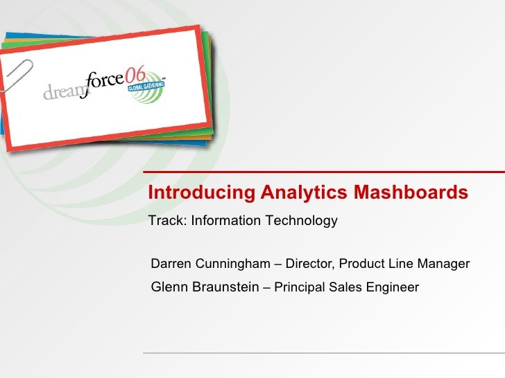Introducing Analytics Mash-ups