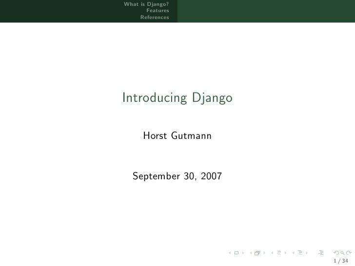 Introducing Django