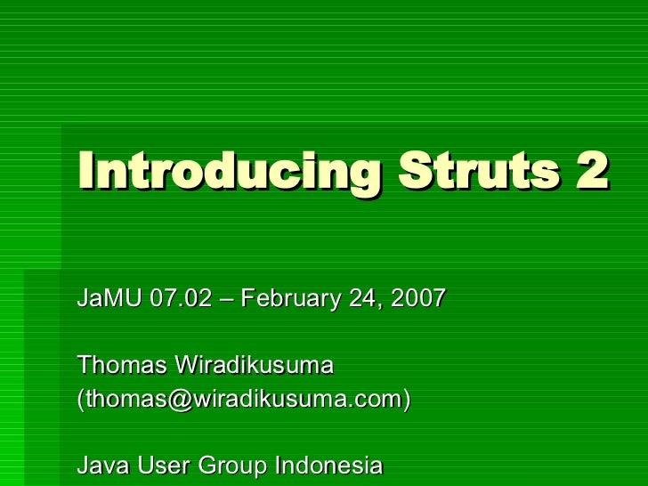 Introducing Struts 2