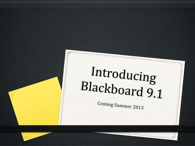Introducing Blackboard Learn