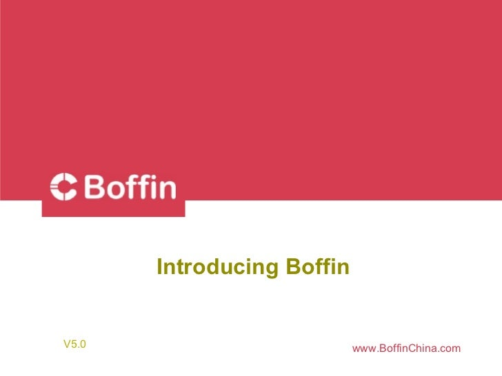 Introducing boffin
