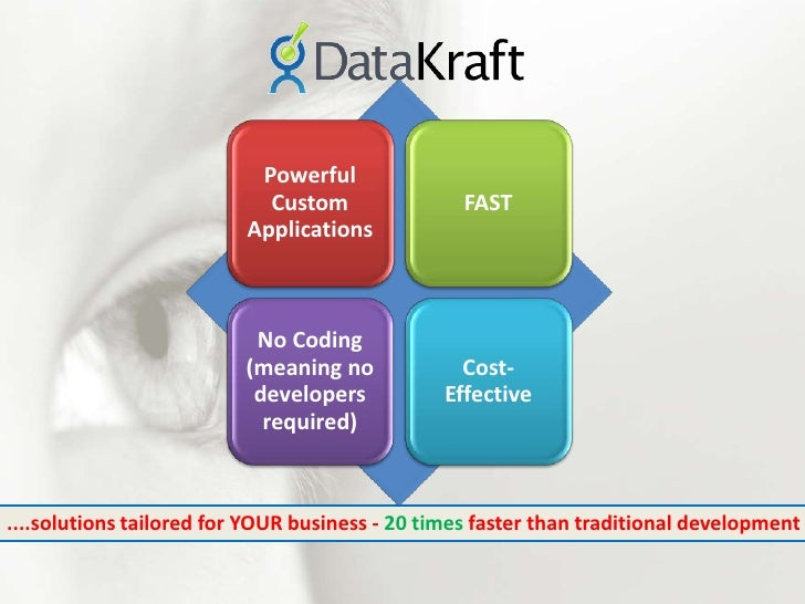 ....solutions tailored for YOUR business - 20 times faster than traditional development<br />