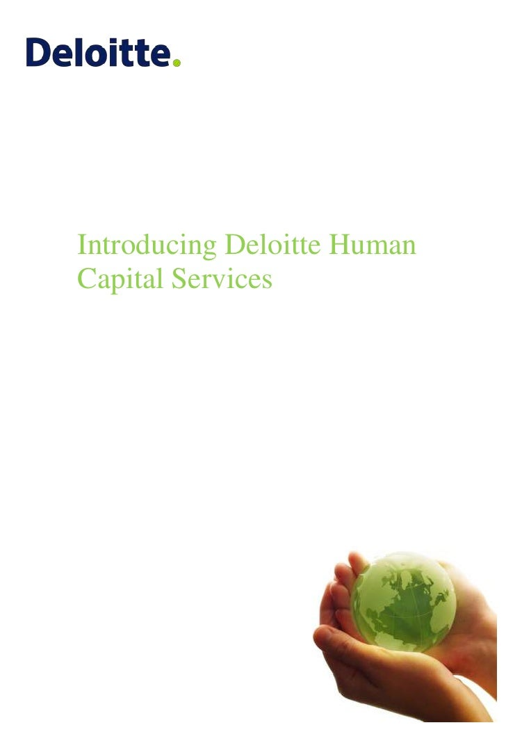 Introducing Deloitte Human Capital Services<br />
