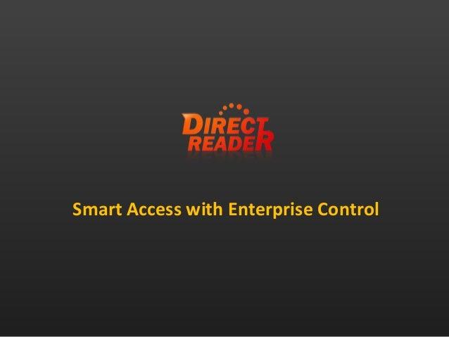 Smart Access with Enterprise Control