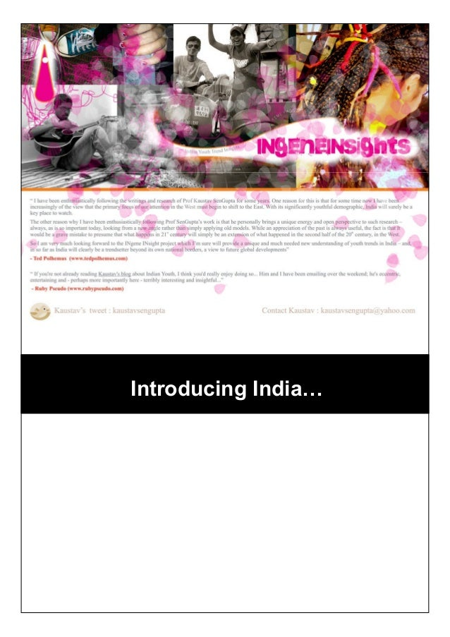 Introducing India…