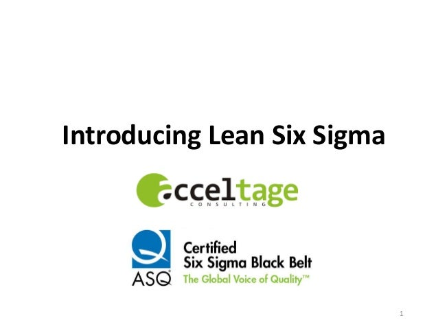 Introducing Lean Six Sigma 1