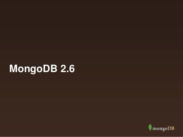MongoDB 2.6