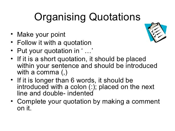 Ways to introduce quotes in research papers