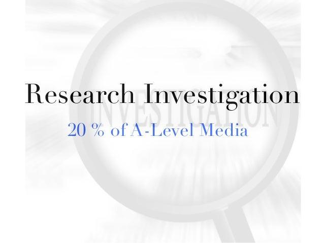 Research Investigation