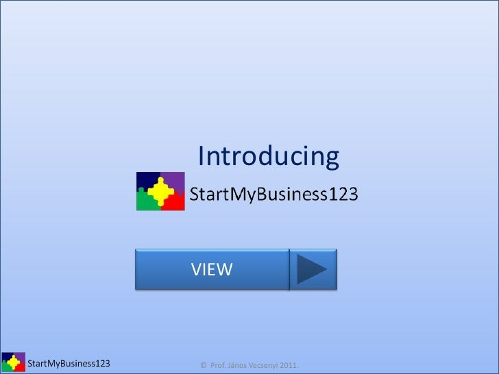 Introducing start mybusiness123 2011 09 05