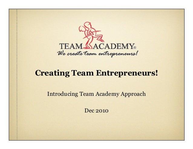 Introducing Team Academy Finland