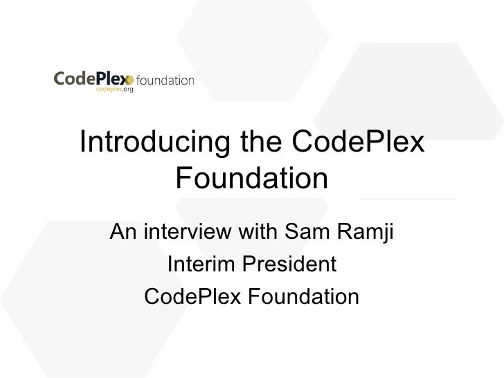 Introducing The CodePlex Foundation
