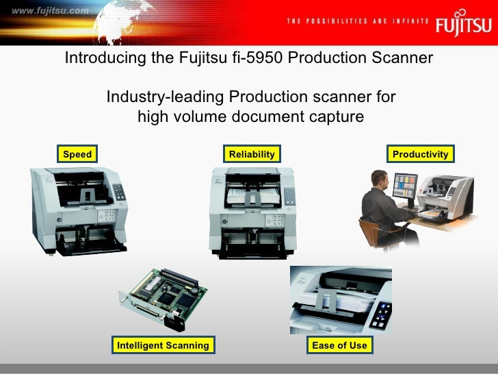 Introducing the Fujitsu fi-5950 Production Scanner Industry-leading Production scanner for high volume document capture Sp...