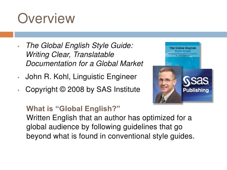 What exactly are the english guidelines?