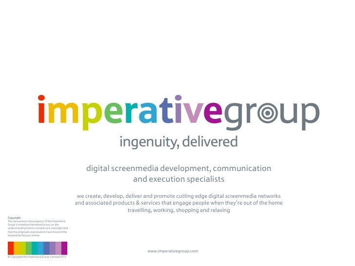 Introducing the imperative group