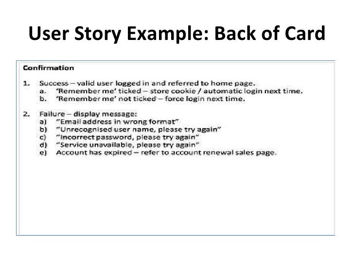 User story template word