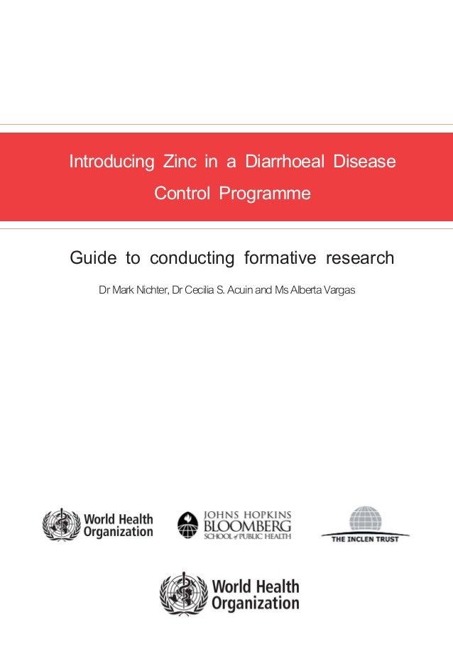 Introducing Zinc in a Diarrhoeal Disease                                                                                  ...