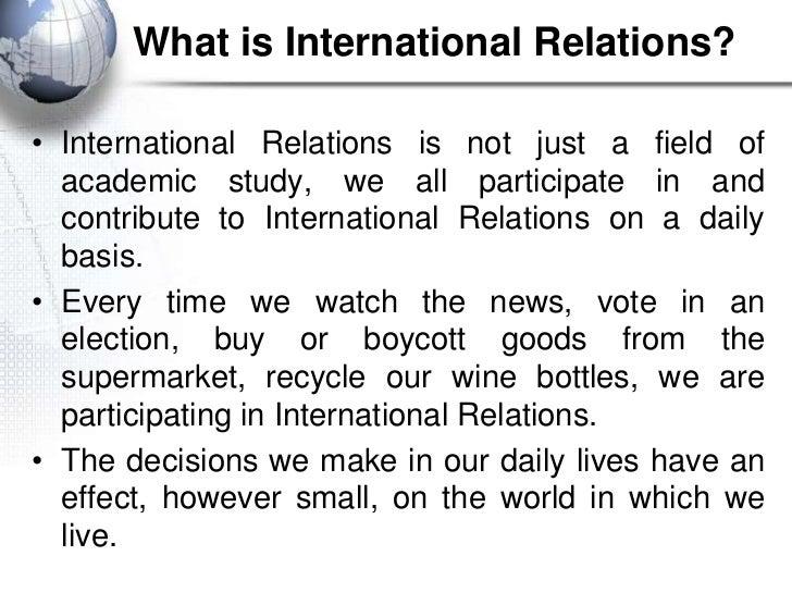 International Relations paper idea?