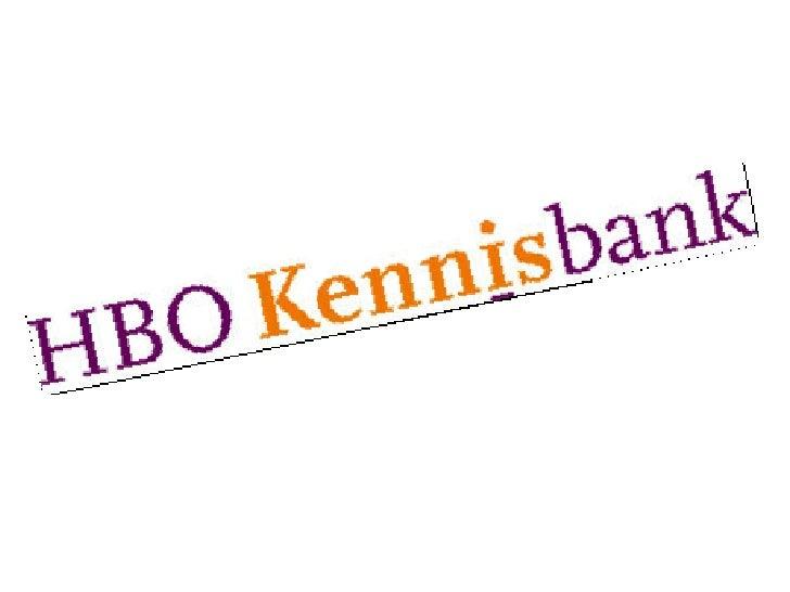 Introductie HBO Kennisbank