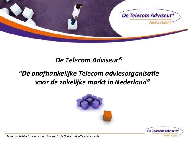 Introductie De Telecom Adviseur