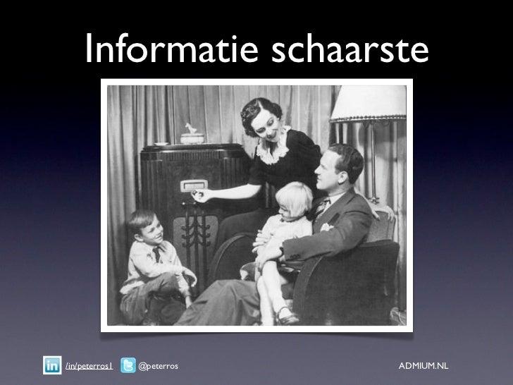 Informatie schaarste/in/peterros1   @peterros   ADMIUM.NL