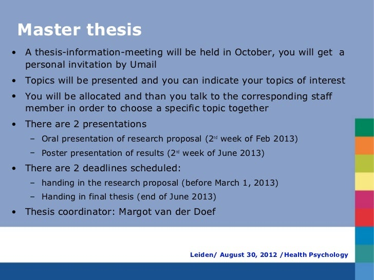 write thesis proposal psychology