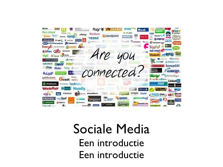 Sociale Media Een introductie