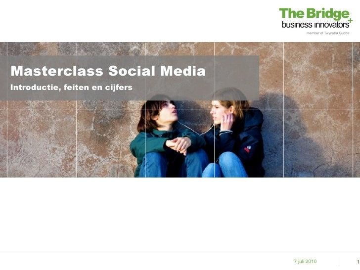 Masterclass Social MediaIntroductie, feiten en cijfers                                 7 juli 2010   1
