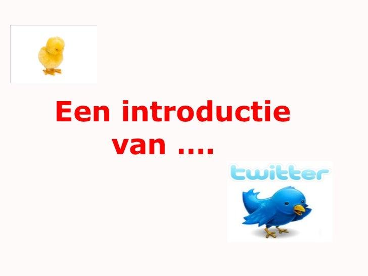 Introductie twitter