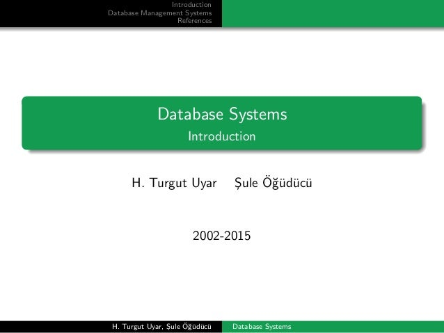 Database Systems - Introduction