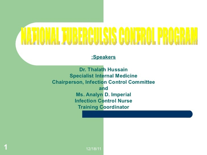 Speakers: Dr. Thalath Hussain Specialist Internal Medicine Chairperson, Infection Control Committee and Ms. Analyn D. Impe...
