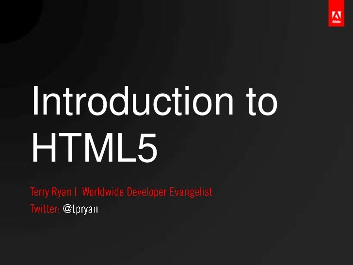 Introduction toHTML5