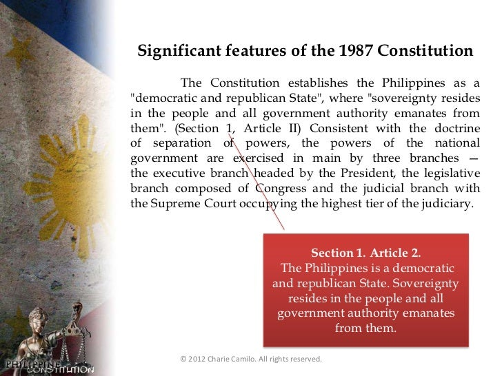 history of the philippine constitution Looking back to the previous government systems in different periods in philippine history  1987 philippine constitution 2453 words | 10 pages.