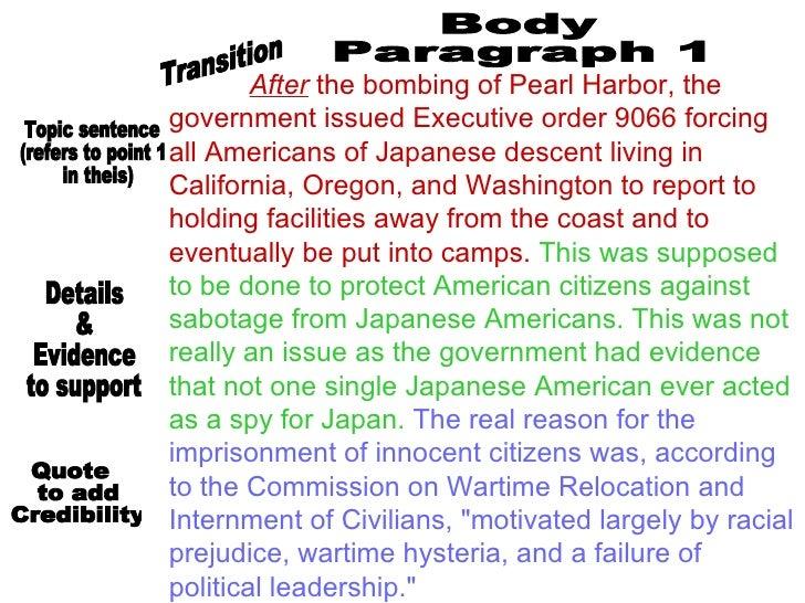 Executive order 9066 persuasive essay