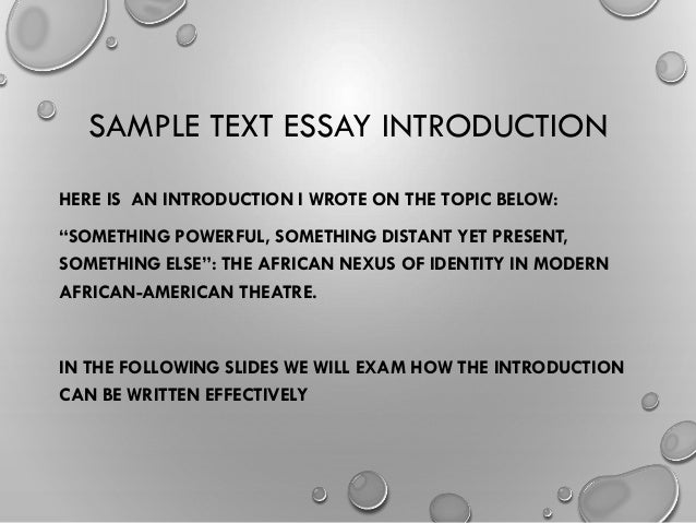 How do I start on my Introduction and conclusion on an essay?
